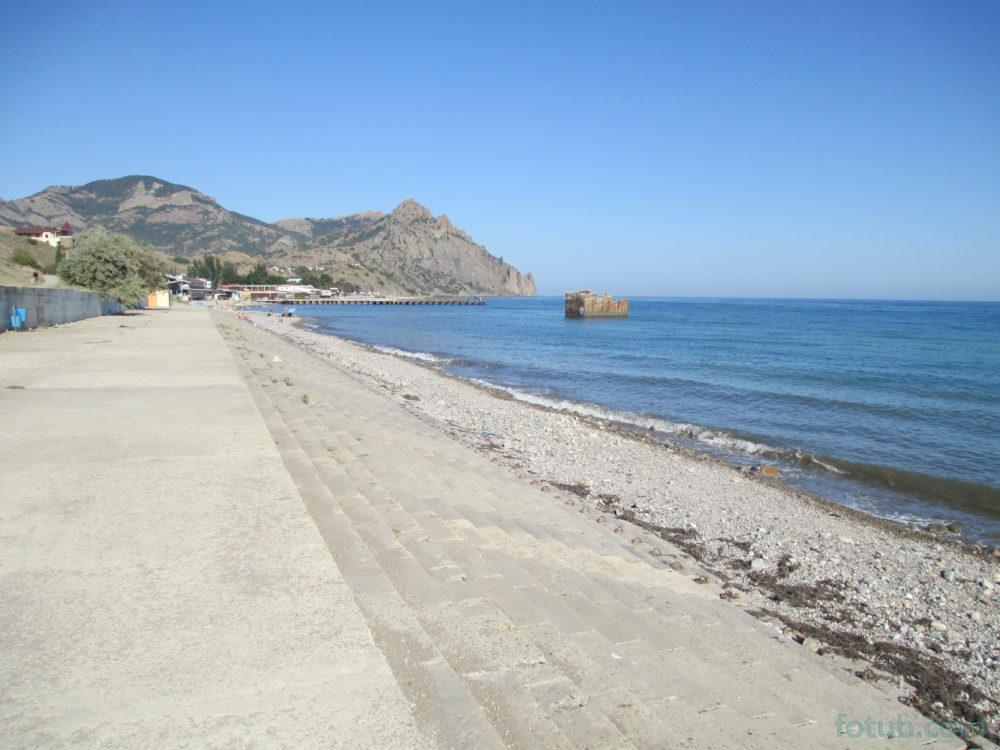 Курортное крым фото пляжа и набережной