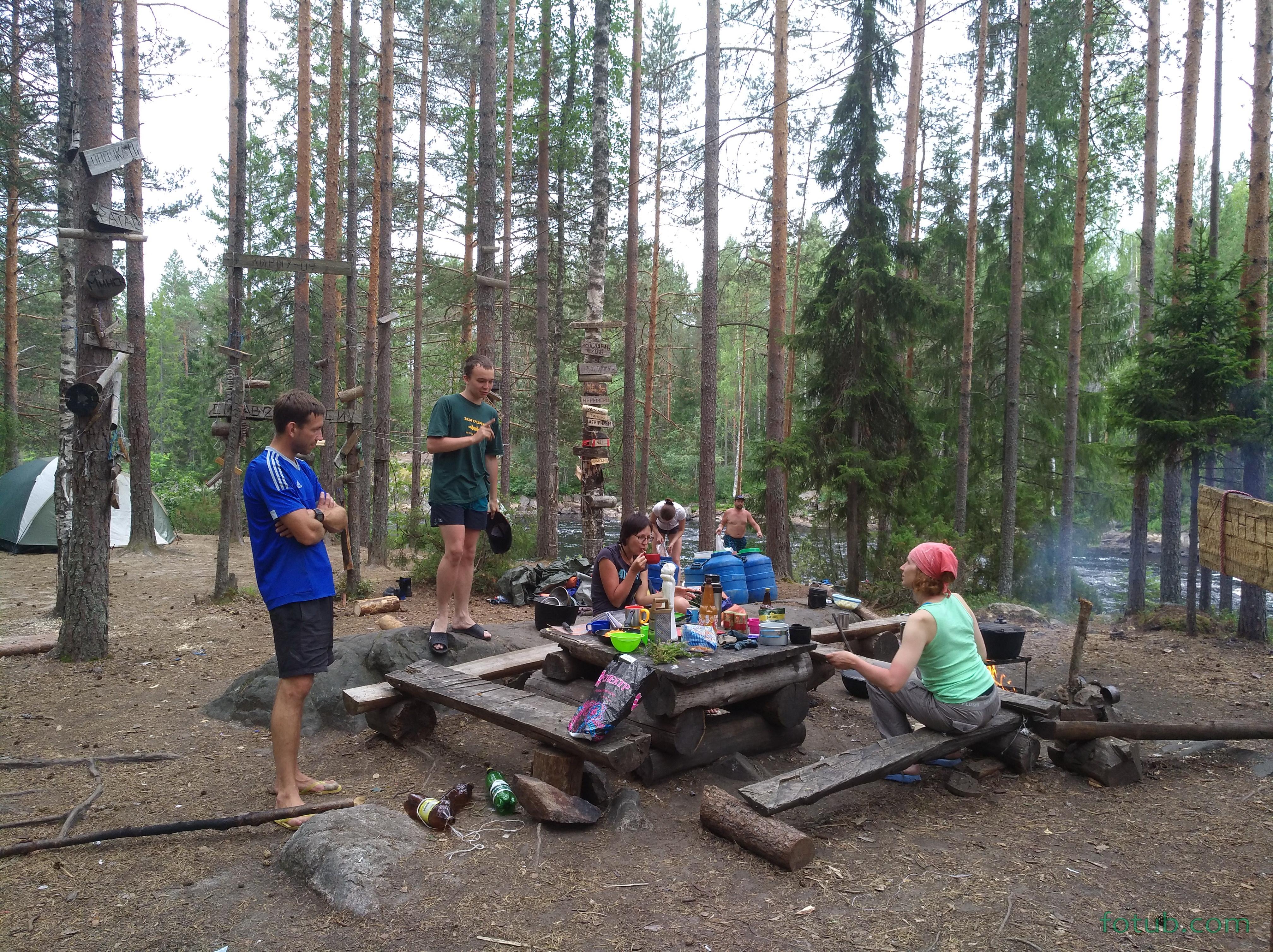 Стоянка на пороге Сизовском, река Шуя. Тут отдыхал коллектив Яндекса